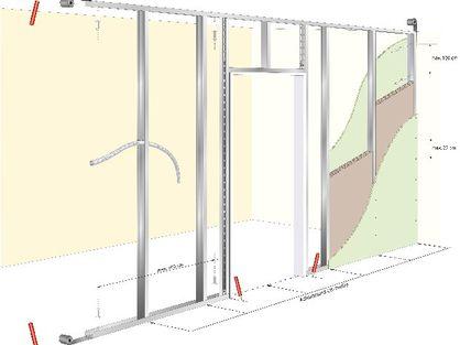 knauf trockener innenausbau trennwand erstellen. Black Bedroom Furniture Sets. Home Design Ideas