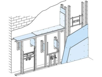 knauf wand system sanit r einbausysteme. Black Bedroom Furniture Sets. Home Design Ideas