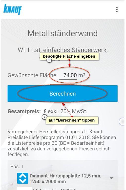 Knauf Knauf App Mit Bedarfsberechnung
