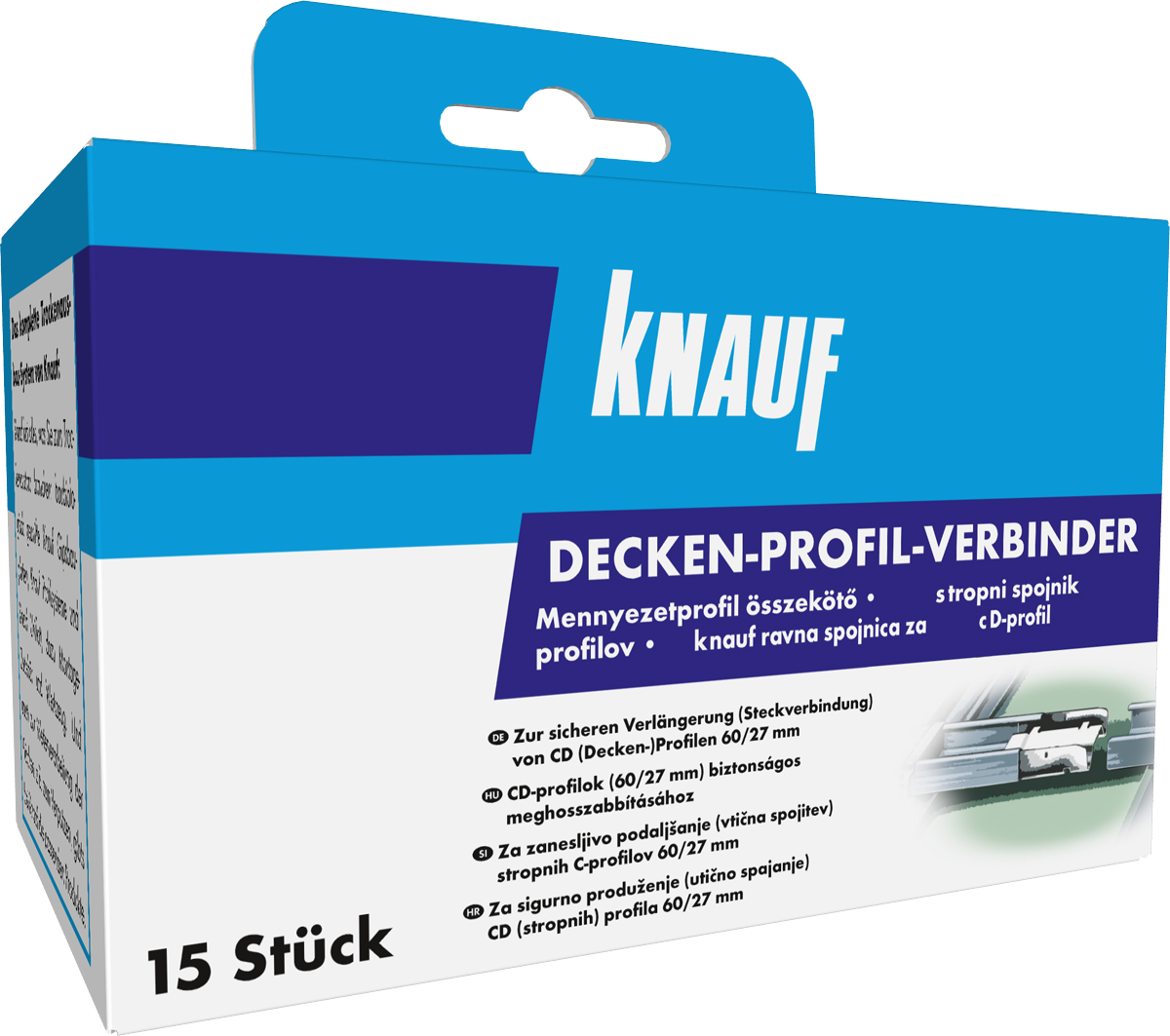 knauf profilverbinder f r cd profil 60 27. Black Bedroom Furniture Sets. Home Design Ideas