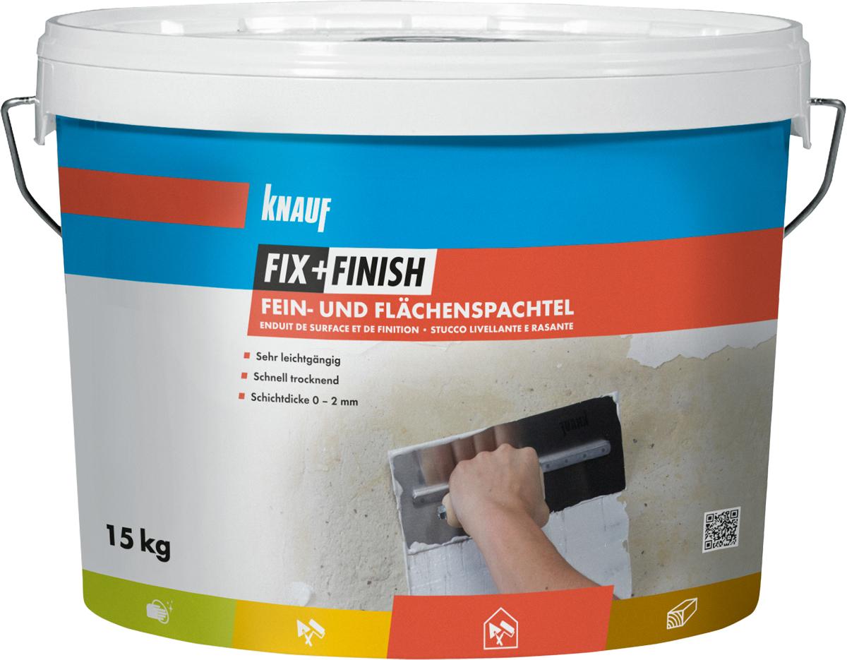 knauf - fix + finish fein- und flächenspachtel